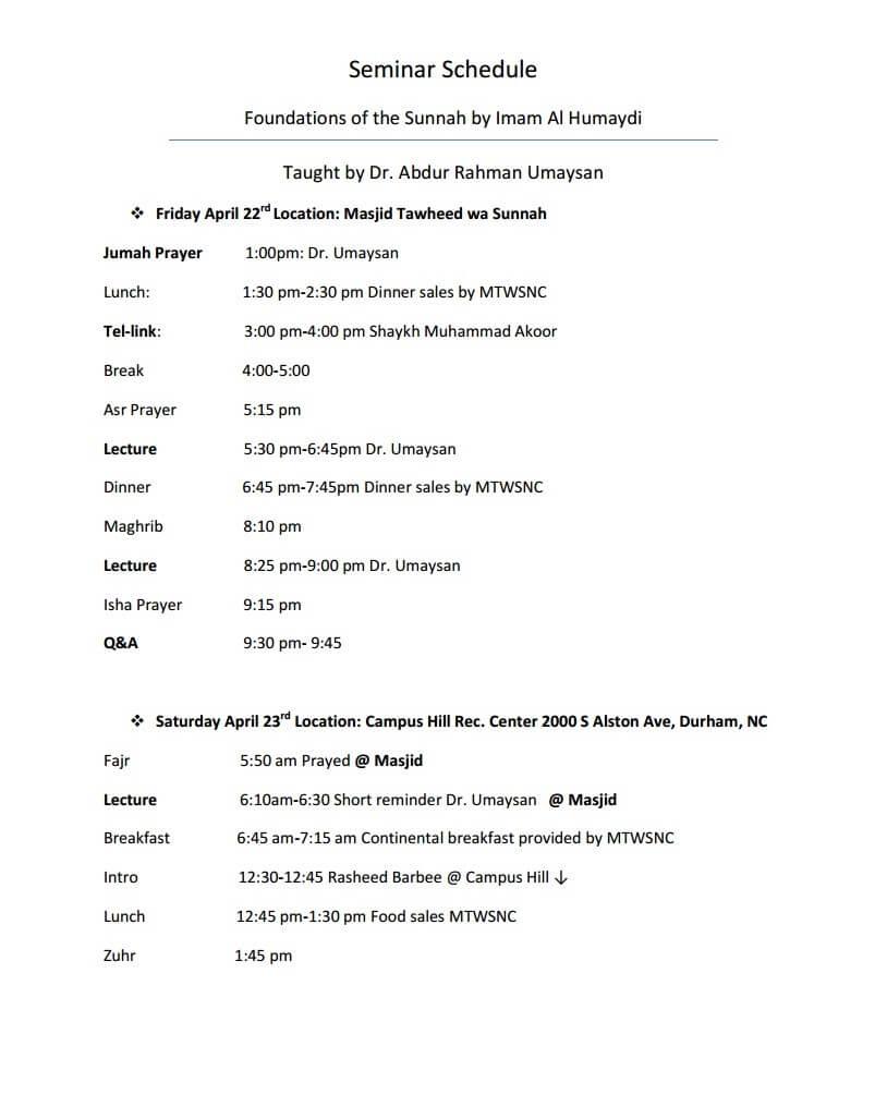 Seminar Schedule-1